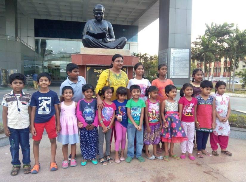 Janani with kids